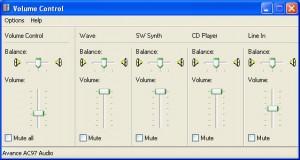 windows xp volume control