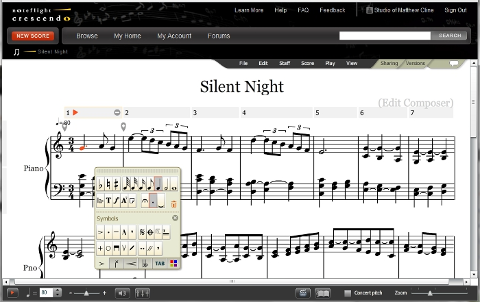 free online notation software