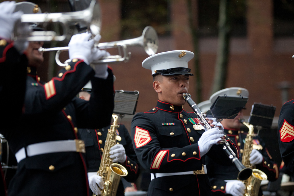 Marine band plays in New York