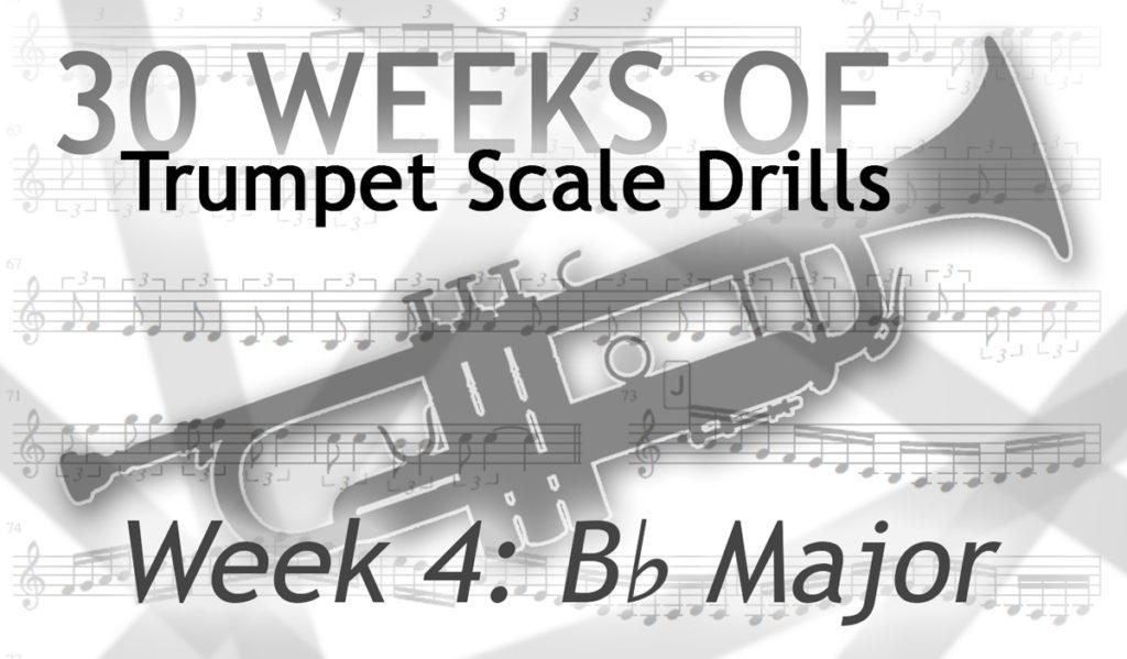 Trumpet Scale Drills in B Flat Major