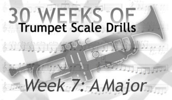 Trumpet Scale Drills in A Major