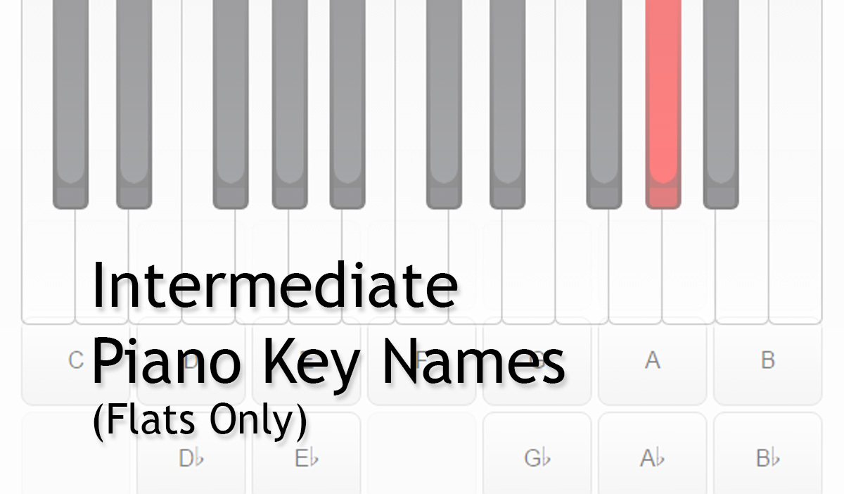 Piano Keys Names Intermediate Flats