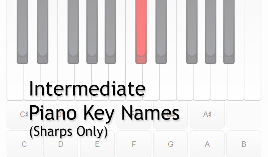 Piano Keys Names Intermediate Sharps