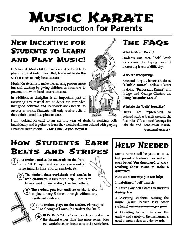 Open School Music Karate Resources